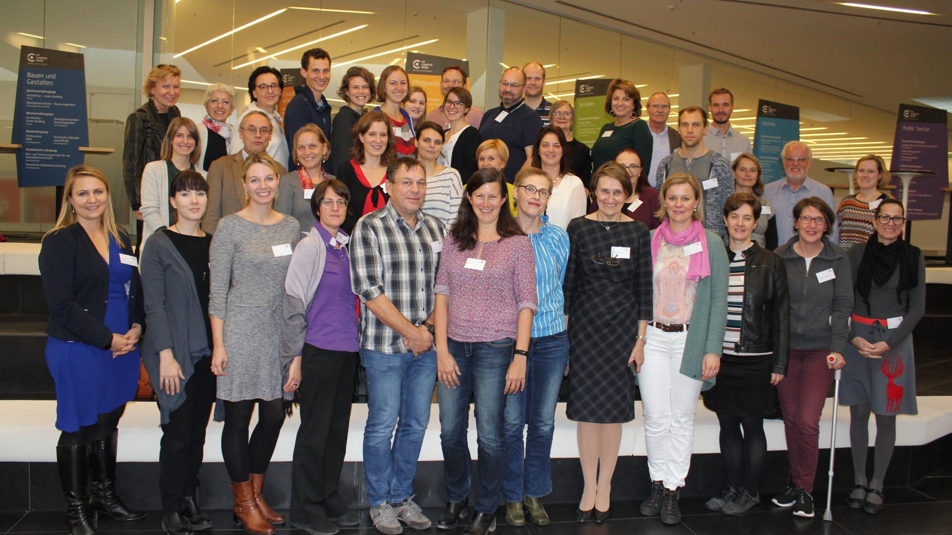 Gruppenfoto 3. Treffen © FH Campus Wien Schildendorfer
