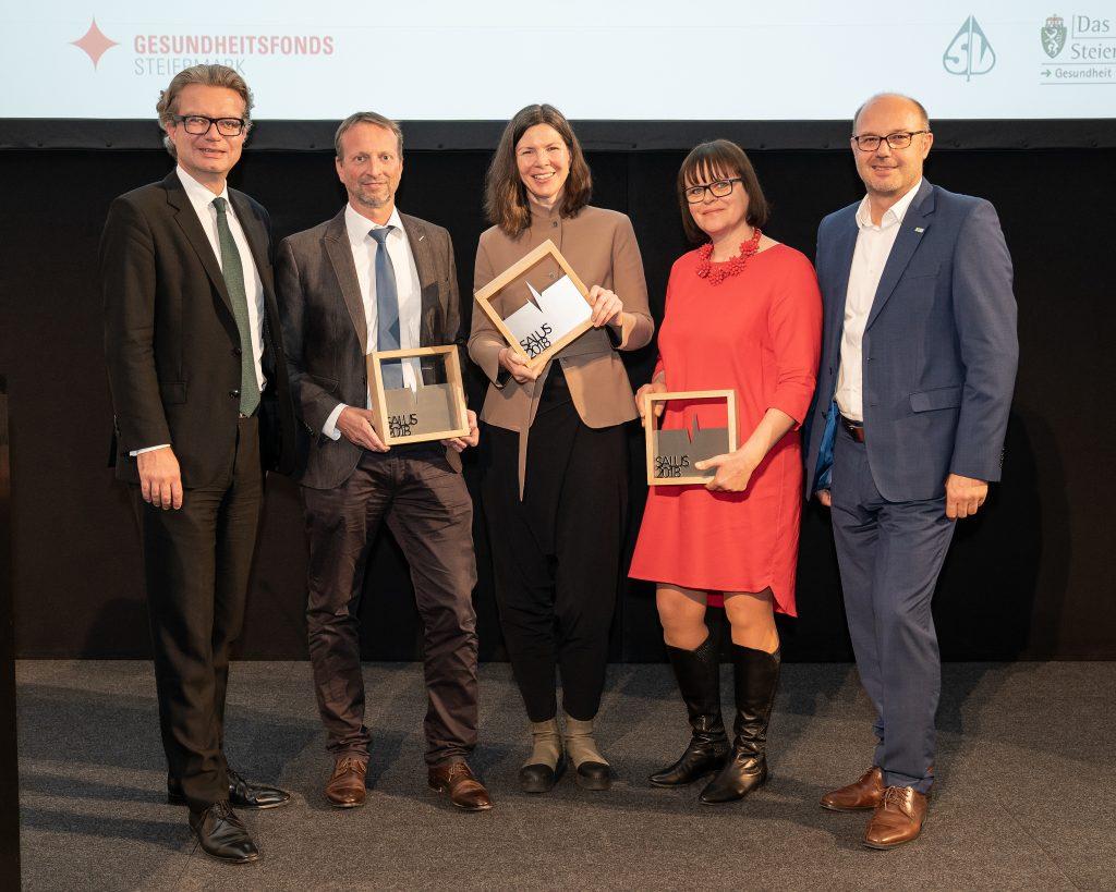 SALUS-Gewinner 2018 © Gesundheitsfonds Steiermark/Hutter