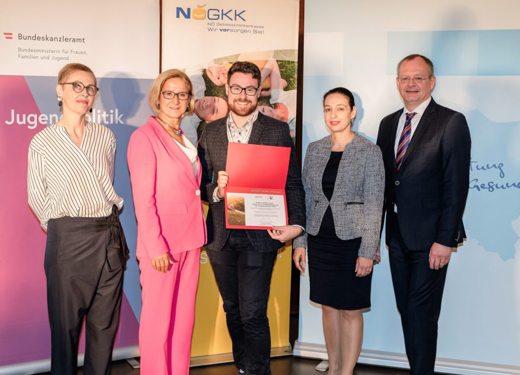 Gamers Health United - Verein zur Gesundheitsförderung von ComputerspielerInnen, vertreten durch Stefan Doubek, erhielt als neues Mitglied der ÖPGK eine Urkunde.