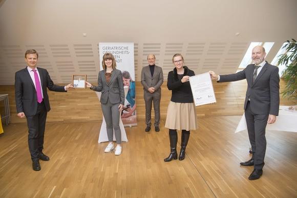 Gruppenfoto der Preisträger des SALUS Preis 2020